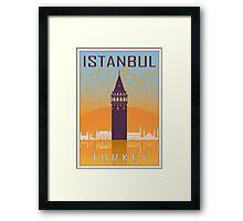 Istanbul vintage poster Framed Print