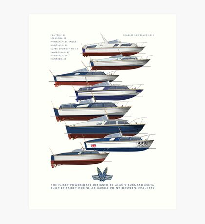 The Fairey Powerboats Art Print