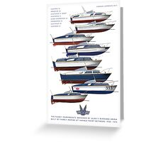 The Fairey Powerboats Greeting Card