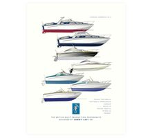 Sonny Levi's British built offshore powerboats Art Print