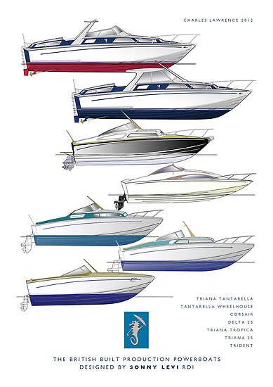 Sonny Levi's British built offshore powerboats by Charles  Lawrence