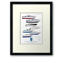 Sonny Levi's British built offshore powerboats Framed Print
