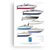 Sonny Levi's British built offshore powerboats Canvas Print