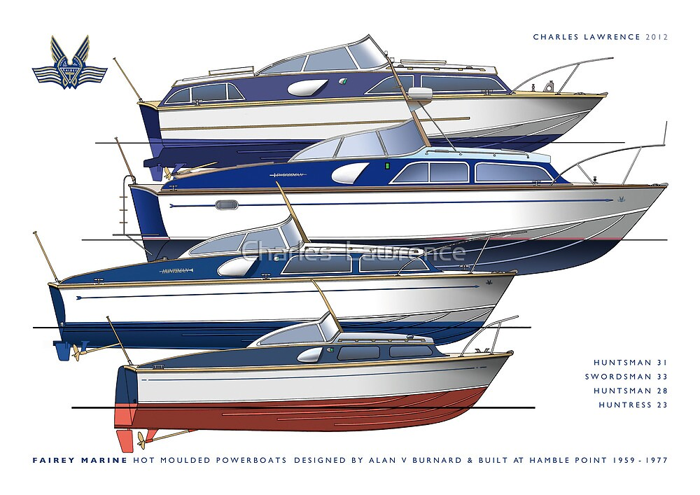 The Fairey hot moulded powerboats by Charles  Lawrence