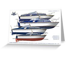 The Fairey hot moulded powerboats Greeting Card