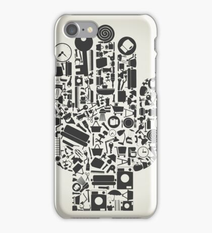 Hand house subjects iPhone Case/Skin