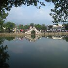 Entry to Hongcun village - Anhui, China by John Kleywegt