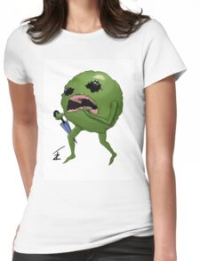 Pea run  Womens Fitted T-Shirt