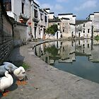 Moon Pond - Hongcun village, Anhui, China by John Kleywegt