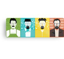 Evolution of Walter White Metal Print