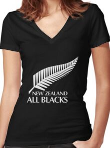 New Zealand All Black Women's Fitted V-Neck T-Shirt