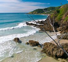 Secluded beach at Byron Bay by Renee Hubbard Fine Art Photography