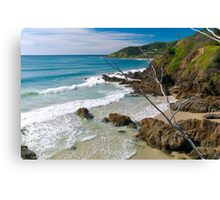 Secluded beach at Byron Bay Canvas Print