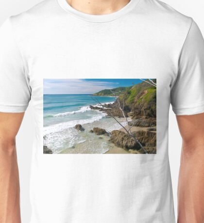 Secluded beach at Byron Bay Unisex T-Shirt