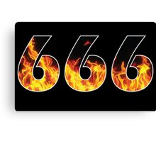 666 Canvas Print