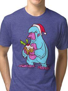 Xmas Yeti Tri-blend T-Shirt