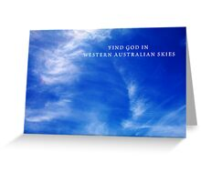 Western Australian Skies Greeting Card
