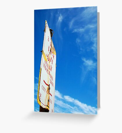 Beach Sign One ( 08 10 12 ) Greeting Card