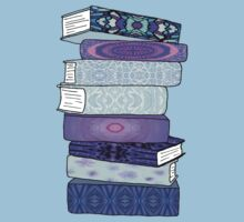 Stack of Blue Books One Piece - Short Sleeve