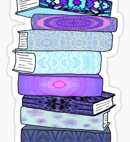 Stack of Blue Books Sticker