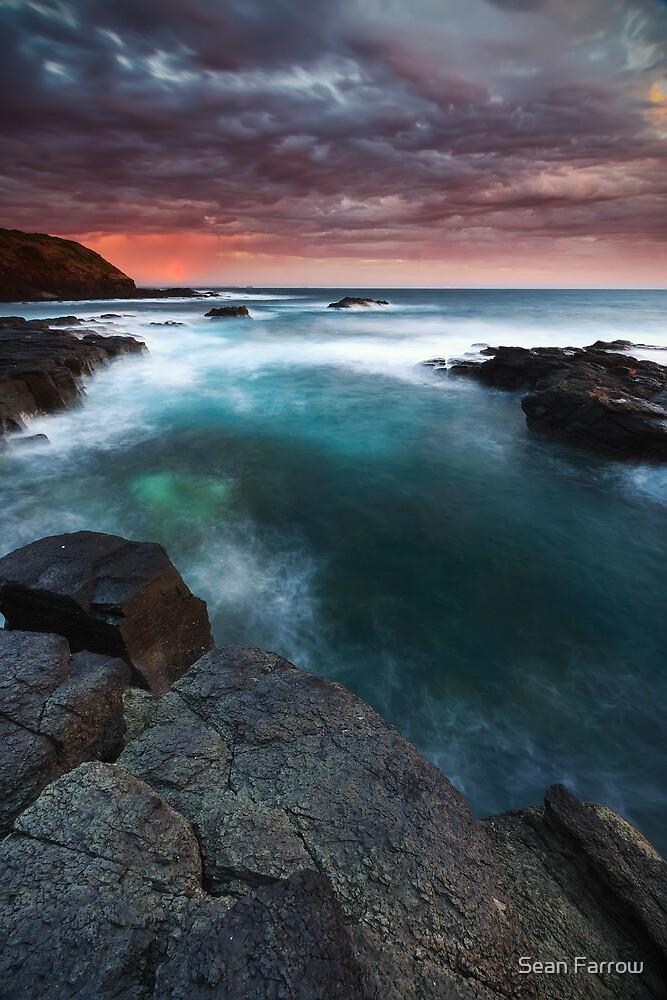 Burning Sky over Basalt - Flinders, Victoria, Australia by Sean Farrow
