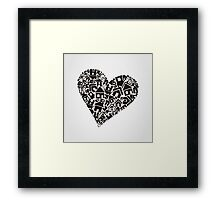 Heart the house Framed Print