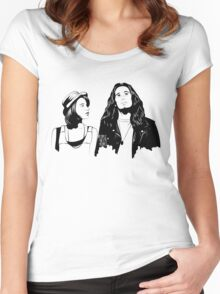Touch Me, I'm Dick Women's Fitted Scoop T-Shirt