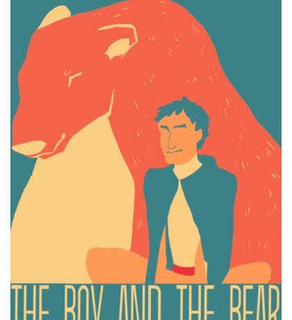 The boy and the bear Sticker