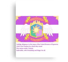 Brony Pledge of Allegiance Canvas Print