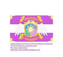Brony Pledge of Allegiance Photographic Print