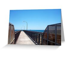 Leighton Beach Rail Bridge 03 12 12 Greeting Card