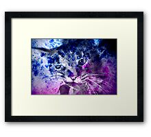 Galaxy Abstract NOW With Kitty Included! Framed Print