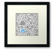 House a background Framed Print
