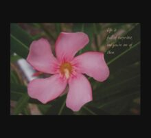 Pink Oleander Close Up Life Is Full of Surprises Greeting  Kids Tee