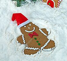 Gingerbread Snow Angel by Maria Dryfhout