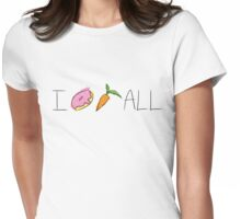 I Doughnut Carrot All [Messy Colouring] Womens Fitted T-Shirt