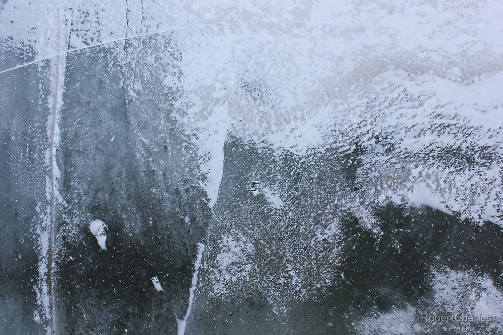 Abstractical Ice - Monochromatic by RobertCharles