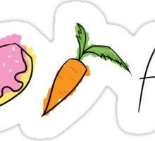I Doughnut Carrot All [Messy Colouring] Sticker