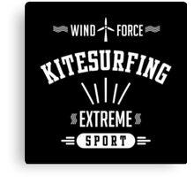 Wind Force Kitesurfing White Graphic Canvas Print