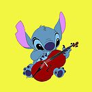 Stitch and a cello in yellow by eleanor89