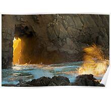 Pfeiffer Beach Arch at Sunset Poster