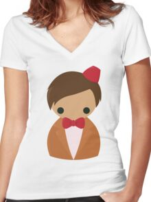 Eleventh Doctor Women's Fitted V-Neck T-Shirt