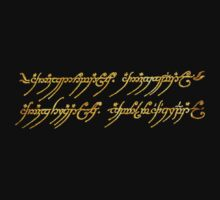 Lord of the Rings Inscription by eleanor89