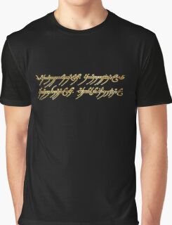 Lord of the Rings Inscription Graphic T-Shirt
