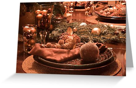 Christmas Place Setting; The Dinner Table by Sherry Hallemeier
