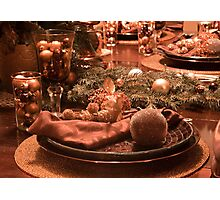 Christmas Place Setting; The Dinner Table Photographic Print