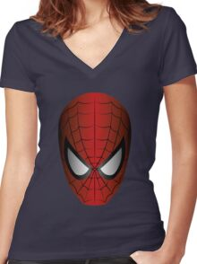 Vector SpiderMan Women's Fitted V-Neck T-Shirt