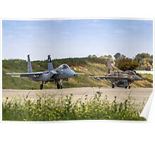 IAF Fighter jet F-15 (BAZ) and F-16 (Netz)  Poster