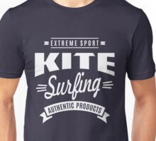 Kitesurfing Authentic Products White Graphic Unisex T-Shirt