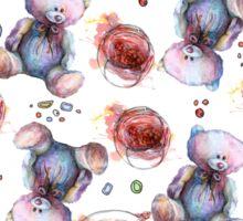 Teddy bear with strawberry jam Sticker